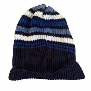 Gap Striped Knit Beanie Hat